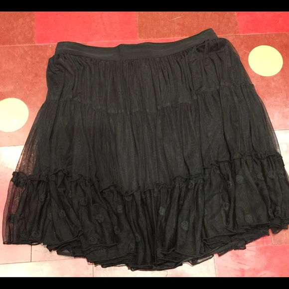42da62a3f6d3e NWT Black Lace Lane Bryant Short Skirt SZ 18 20